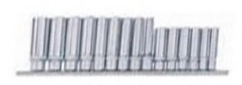 3/8 Nuss Satz lang Wellenprofil 15 tlg