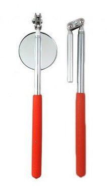 Spiegel met magneet penMagnetischer Stift und Spiegel