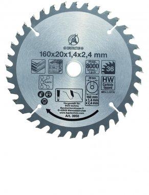 Hartmetall-Kreissägeblatt, Durchmesser 160 mm, 36 Zähne