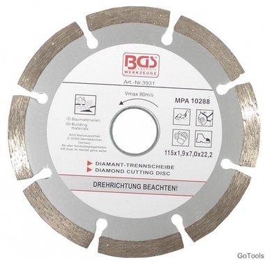 Segment-Trennscheibe für Trockenschnitt, 115 mm