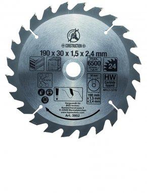Hartmetall-Kreissägeblatt, 24 Zähne, 190 mm