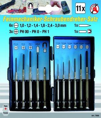 Feinmechaniker-Schraubendreher-Satz, 11-tlg.