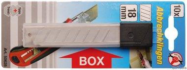 Klingen für Cuttermesser, 18 mm, 10-tlg.