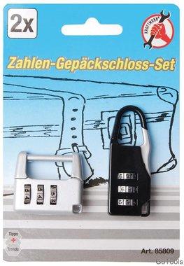Zahlen-Gepäckschloss-Satz, 2-tlg.