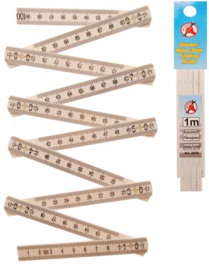Gliedermass-Stab, 10 Glieder, Länge 1 m