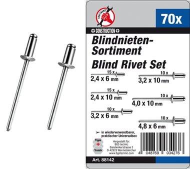 Blindnieten-Sortiment, 70-tlg.