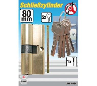 Messing-Schließzylinder, 80 mm