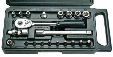Steckschlüssel und Bit-Satz, 21-tlg