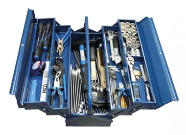 Metall-Werkzeugkoffer inkl. Werkzeug 137-tlg
