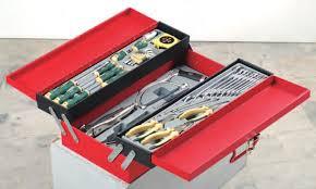 Werkzeugkiste gefüllt 48 tlg.