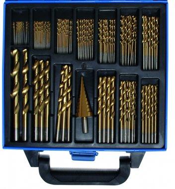119-teiliges Dreh- und Stufenbohrgerät HSS, titanbeschichtet, 1 - 10 mm