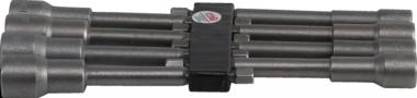 Steckschlüsselsatz, extra lang, mit 6-pt. Bohrerschaft, 6 - 13 mm