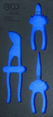 1/3 Werkzeugschale (408x189x32 mm), leer, für 3-teiliges Zangenset
