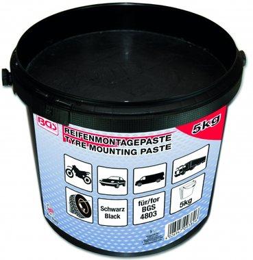 Reifenmontagepaste, schwarz, 5 Kg Eimer