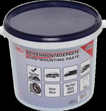 Reifenmontagepaste, blau für Run-Flat-Reifen, 5 Kg Eimer