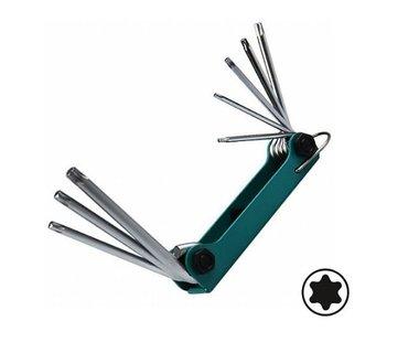 Schlüsselsatz Torx einklappbar 8 tlg
