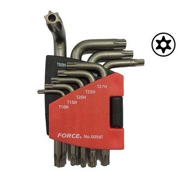 Winkelschlüsselsatz Torx mit Loch 9 tlg