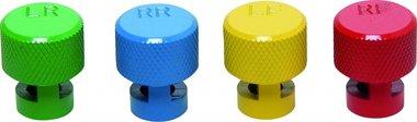 Farbkodierte Reifenluft-Ablasskappen für RDKS Ventile 4tlg.
