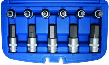 12-teiliges Bit Socket Set, Innensechskant, 1/2, Zoll-Größen 7/32 - 7/8