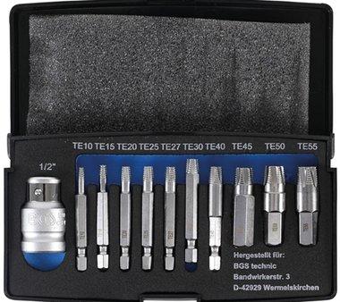 11-teiliges Schraubenzieher-Set für beschädigtes T-Star (für Torx) T10-T55