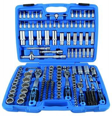 Steckschlüssel-Satz Gear Lock Antrieb 6,3 mm (1/4) / 10 mm (3/8) / 12,5 mm (1/2) 192-tlg.