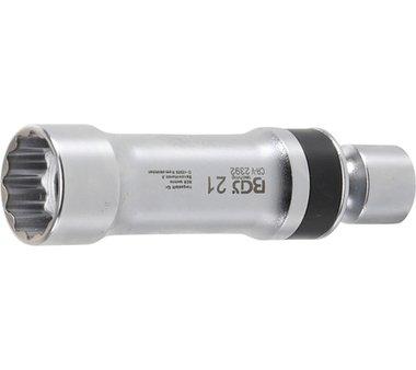 Universal Joint Zündkerzenstecker , 21 mm, 12 pt, mit Haltefeder