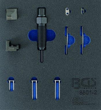 Ergänzungsset für Steuerkettennietgerät (BGS 8501), passend für 3 mm Kettenstifte