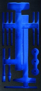 1/3 Werkstattwageneinlage (408x189x32 mm), leer für Hammer- und Meißel-Satz, 14-tlg.