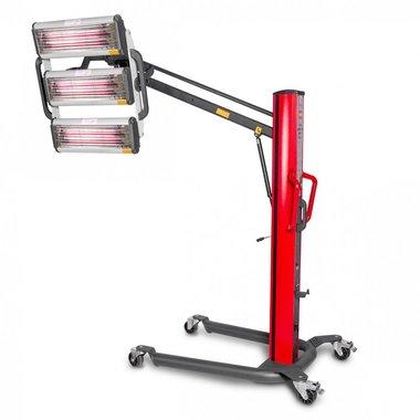 Infrarot-Lacktrockner mit 3 Lampen