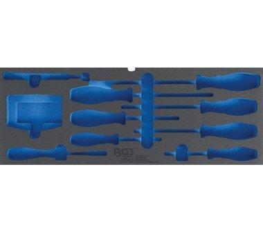 Schaumeinlage für Art. 3312, leer: für Schraubendreher, Bitsatz und Magnetheber