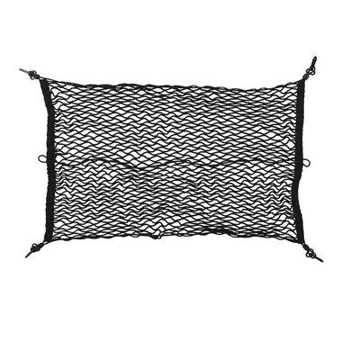 Gepäcknetz elastisch 80x50cm mit Kunststoff-Haken NS-3