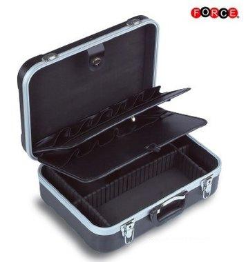 Schwarzer Werkzeugkoffer (rollbar)