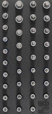 Werkzeugschale 1/3: Bit Steckschlüsselsatz Innensechskant, Torx, XZN RIBE 36 Stck.