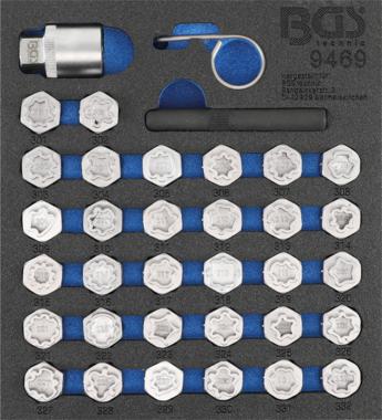 Felgenschloss Steckschlüsselsatz für Mercedes 35-tlg.