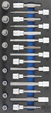 Werkzeugeinsatz 1/3: Bit-Steckschlüsselsatz 12,5 mm (1/2 Zoll) Innensechskant 24-tlg.