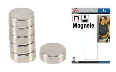 Magnetsatz extra starker Durchmesser 8 mm 6 Stck