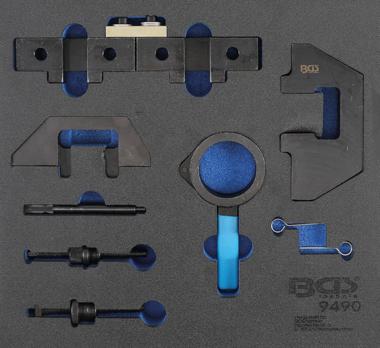 Werkstattwageneinlage 2/3: Motor-Einstellwerkzeug-Satz für BMW M42, M43, M50, M52, M60, M51