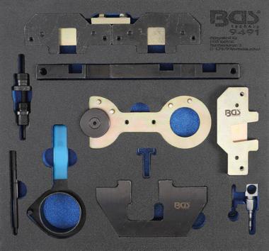 Werkstattwageneinlage 2/3: Motor-Einstellwerkzeug-Satz für BMW M40, M44, M50, M52, M54, M56