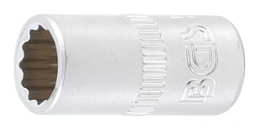 Steckschlüssel-Einsatz Zwölfkant Antrieb Innenvierkant 6,3 mm (1/4) SW 5/16