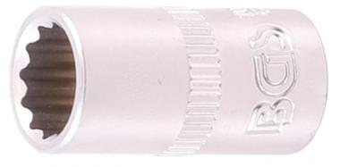 Steckschlüssel-Einsatz Zwölfkant Antrieb Innenvierkant 6,3 mm (1/4) SW 11/32