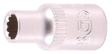 Steckschlüssel-Einsatz Zwölfkant Antrieb Innenvierkant 6,3 mm (1/4) SW 7/32