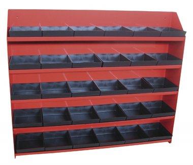 Tablett-Gestell 30 Kunststoffbehältern