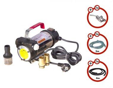 Dieselpumpe 230V + Pistole + Dieselschlauch + 2x Kupplung