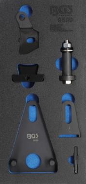 Schwungrad-/Kurbelwellen-Riemenscheiben-Blockier- und Stirndeckeltrenn-Werkzeug-Satz
