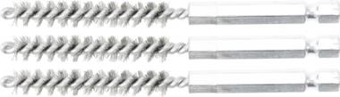 Stahlbürste | 8 mm | Antrieb Außensechskant 6,3 mm (1/4) | 3-tlg.