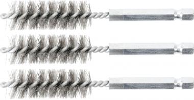 Stahlbürste | 15 mm | Antrieb Außensechskant 6,3 mm (1/4) | 3-tlg.