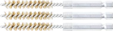 Messingbürste | 8 mm | Antrieb Außensechskant 6,3 mm (1/4