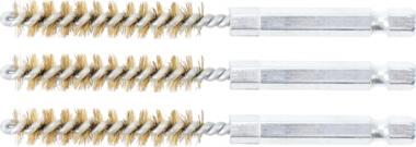 Messingbürste | 9 mm | Antrieb Außensechskant 6,3 mm (1/4