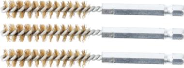 Messingbürste | 10 mm | Antrieb Außensechskant 6,3 mm (1/4