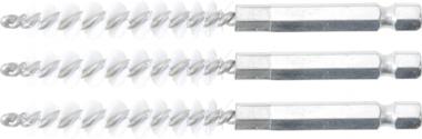 Nylonbürste | 8 mm | Antrieb Außensechskant 6,3 mm (1/4) | 3-tlg
